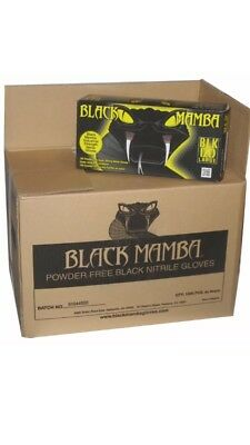 Black Mamba disposal Nitrile gloves 100 per box LARGE BLK 120 MECHANIC GLOVES