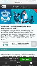 Gold Coast family holiday package for sale Box Hill South Whitehorse Area Preview