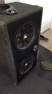 2 12 inch kickers with amp