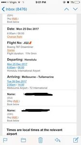 2 x return tickets from Melbourne to Honolulu Brighton East Bayside Area Preview