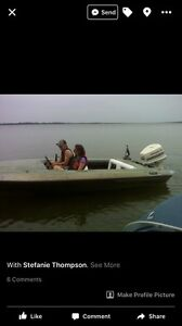 Baja boat and Johnson 140 hp outboard