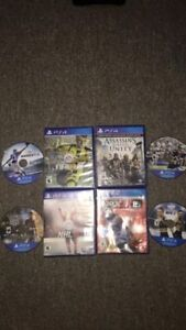 PS4 games for sale all really good condition