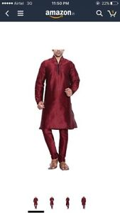 Asian Mens garva diwali karva chauth clothing kurta Sherwani