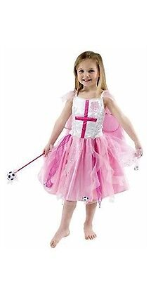 England Football Girls Fairy Pink Fancy Dress Party Costume Dress with Cape - Football Costume For Girls
