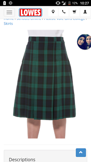 Pascoe Vale Girls Skirt Size 18