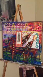 Abstract CocaCola Painting