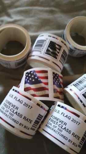 100 USPS US Flag Forever Stamps  2017