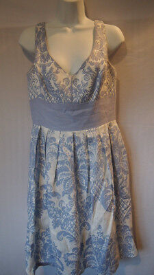 Muse Dress Baby Blue White Size 10 Womens Fashion Apparel Dressy Classy