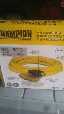 Champion Power Equipment--25ft Generator Power Cable
