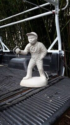 Concrete Lawn jockey statue. Approx 27 inches tall Historical. FREE SHIP