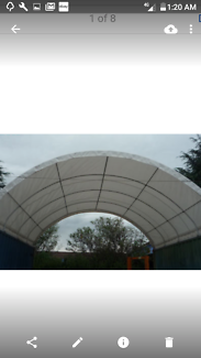 Shipping container 20ft PVC shelter domes