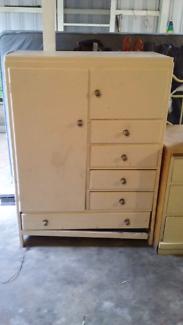 Antique baby cupboard