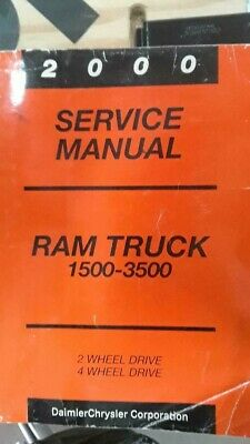 2000 DODGE RAM 1500 2500 3500 Truck SERVICE MANUAL SHOP REPAIR ALSO COVER DIESEL