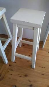 TWO SOLID TIMBER BAR/BENCH STOOLS - CENTRAL COAST - GOSFORD AREA Gosford Gosford Area Preview
