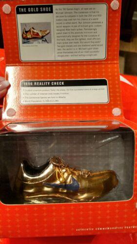 VINTAGE NIKE Classics Commemerative Footwear MJ Gold Shoe-Bowen Designs NIB NRFB