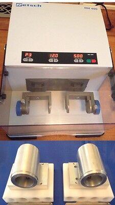 Retsch Mm400 Mixer Mill Grinder Qiagen Tissuelyser Ii 2 Two Adapter Sets New