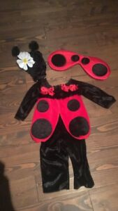 Costume d'Halloween de coccinelle 18 mois