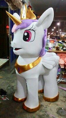 My Little Pony Prinzessin Celestina Weiß Gold Einhorn - Einhorn Maskottchen Kostüme