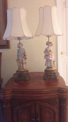 Vintage Boy/Girl Figureen Lamps