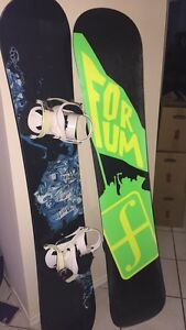 Burton and Forum Snowboards with Bindings