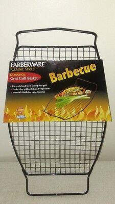 FARBERWARE Classic Series BBQ Oval Nonstick Grid Grill Basket Farberware Grill