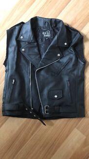Authentic Leather Vest Mens