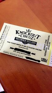 x4 knockout tickets Wakeley Fairfield Area Preview