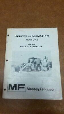 Massey Ferguson 60 Backhoeloader Service Information Manual