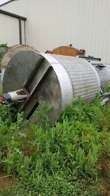 Used 1200 Stainless Steel Dimple Jacketed Mix Tank