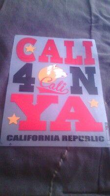 Ya Cali California Republic Lot 100 Heat Press Transfer Inserts Wholesale