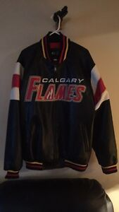 Leather Flames jacket