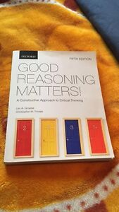 GOOD REASONING MATTERS textbook FOR SALE