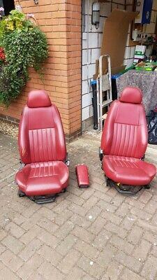 Alfa 147 Front Heated Red Leather Seats