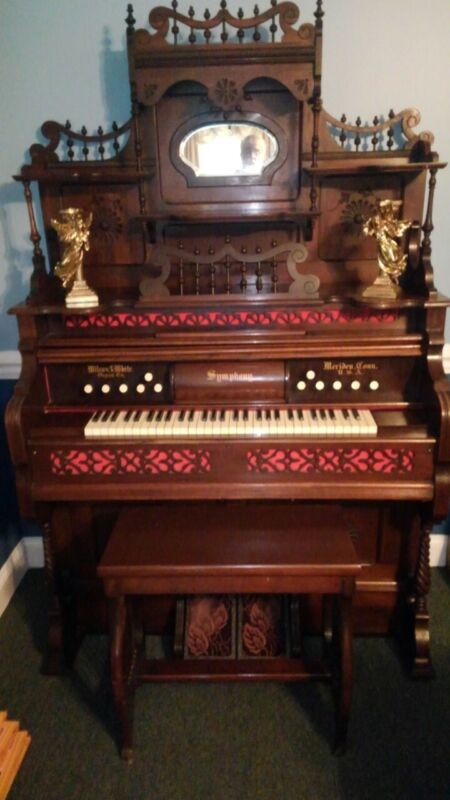 Wilcox and White Antique player reed pump organ