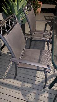 A Garden Chairs / 6 Garden Chairs  (No Table) Dark Grey Colour