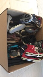 Huge box of toddler shoes