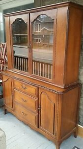 Buffet side board with hutch