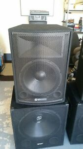 2 *SKYTEC 18″ passive 1000w subwoofers & 2* Skytec 15 passive speakers Cranbourne East Casey Area Preview
