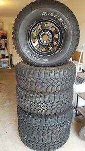 JEEP WRANGLER 17x8 MAXXIS Bighorns 35's! 5X  new/ 500kms on 4x4 Steel Woodcroft Morphett Vale Area Preview