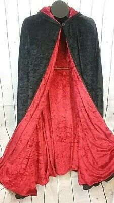 Red Hooded Cape Costume (Spirit Halloween Youth Children's Black/Red Hooded Cape Cloak Costume One Size)