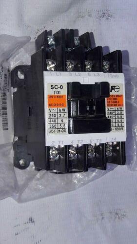 Fuji Electric Co Ltd SC-0 SC13AA Cat No 4NC0F0 Magnetic Contactor SC13AA
