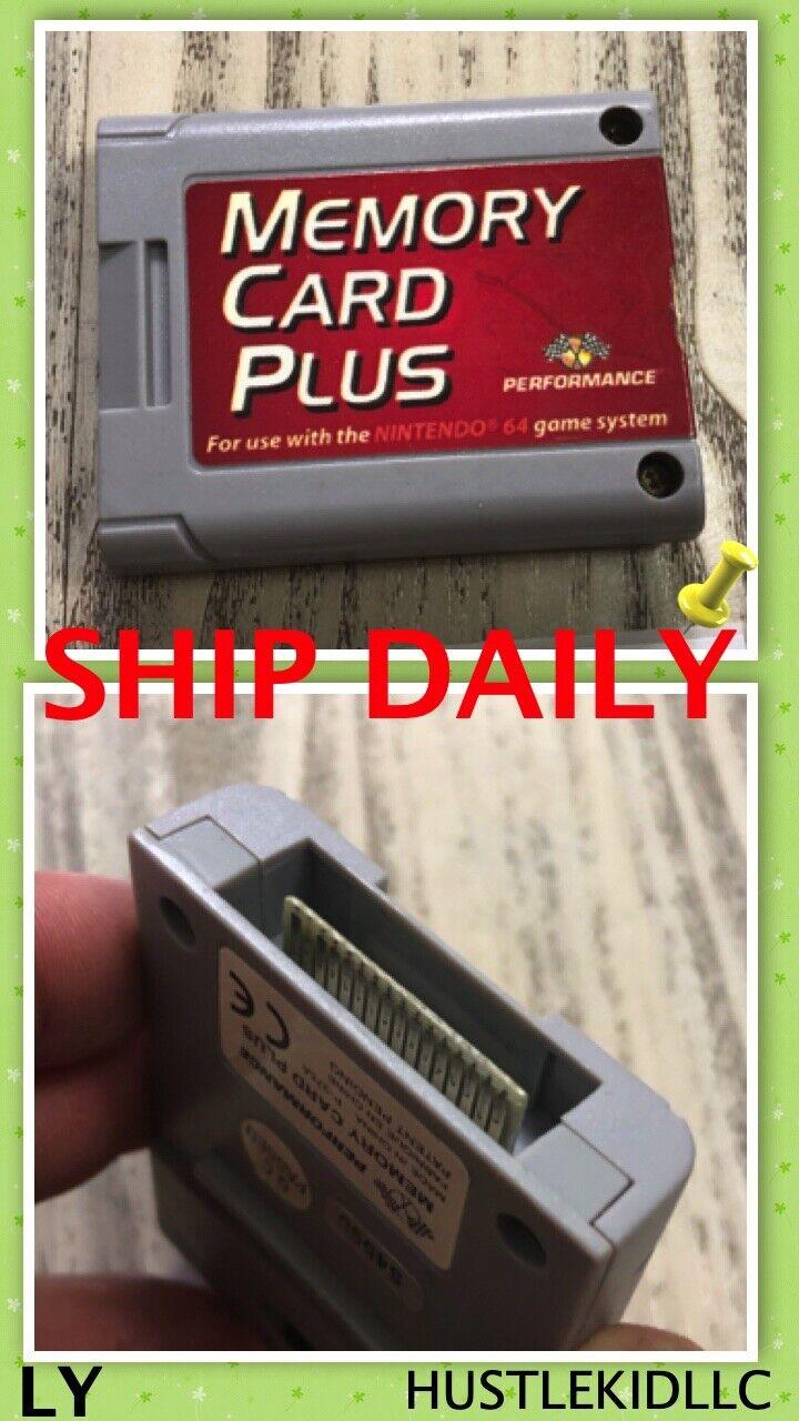 Nintendo 64 N64 Performance Memory Card Plus Pack Pak P-375W TESTED WORK LY-024 - $12.99