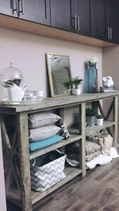 Large rustic Display table