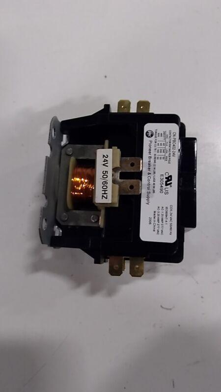 YuCo CN-PBC402-24V DEFINITE PURPOSE CONTACTOR 40A 2P 24V 40 FLA 50 RES FITS D...