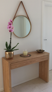 Timber Side table and stylish  matching mirror
