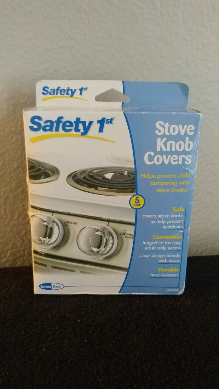 Safety 1st Clear View Stove Knob Covers 5 Count NEW