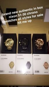ALL TYPES OF NIXON 51-30 BIG FACE WATCHES !!
