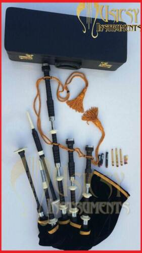 Great Highland Bagpipe With Silver & Ivory Mounts With Free Hard Case