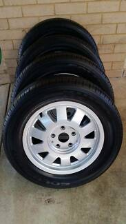4 x 205/60R15 Kumho Tyres c/w Audi Alloy rims