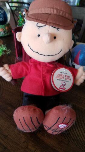 Hallmark PEANUTS Charlie Brown Christmas Stuffed Doll with sound